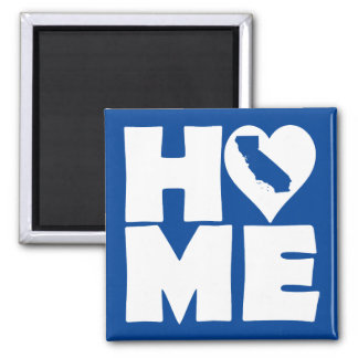 California Home Heart State Fridge Magnet