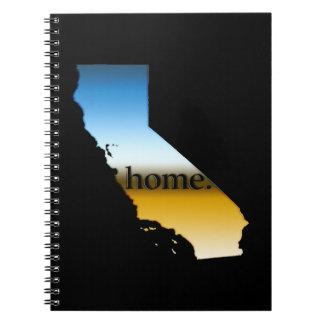 California Home Horizon Spiral Notebook