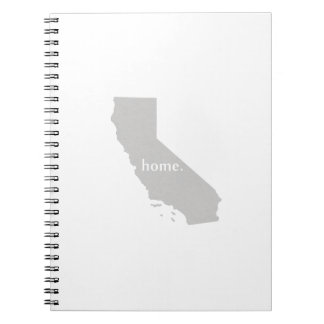 California home silhouette state map spiral notebook