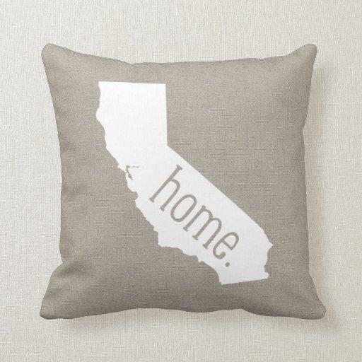California Home State Throw Pillow Zazzle