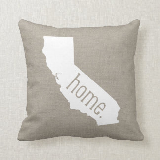 California Home State Throw Pillow