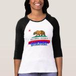california homegirl + calif flag tshirt