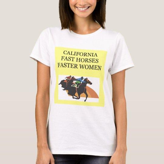 CALIFORNIA horse racing T-Shirt
