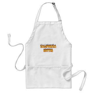 California Hottie fire and flames Adult Apron