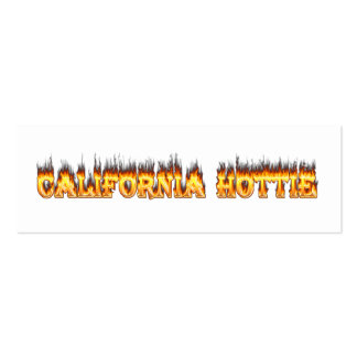 California Hottie fire and flames Business Card Template