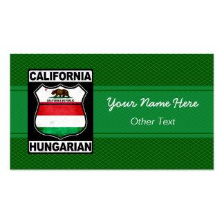 California Hungarian American Business Cards