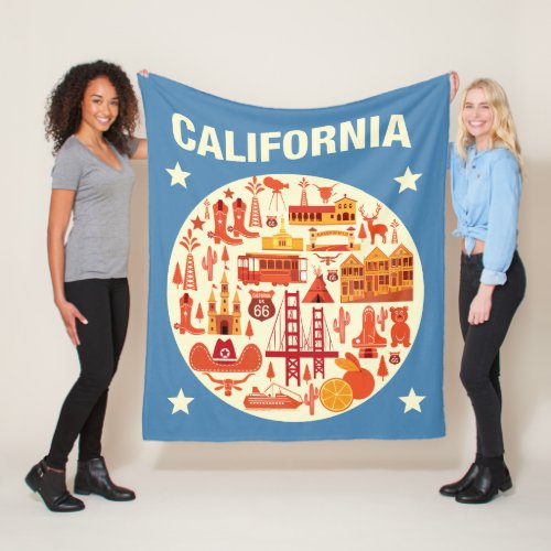 California Icons Fleece Blanket