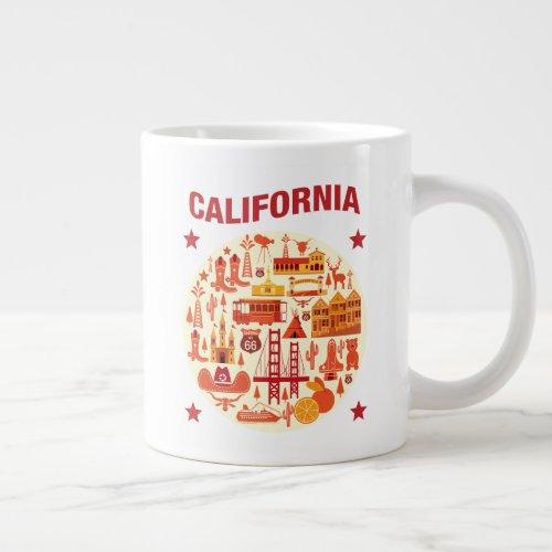 California Icons Giant Coffee Mug
