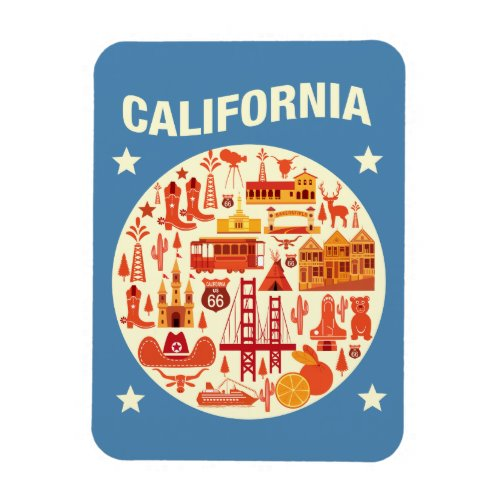 California Icons Magnet
