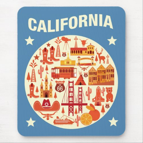 California Icons Mouse Pad