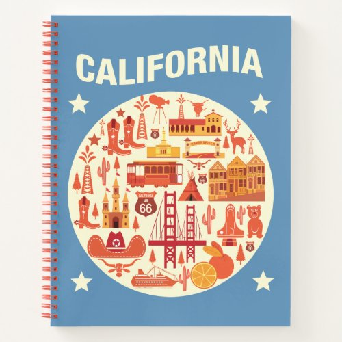 California Icons Notebook