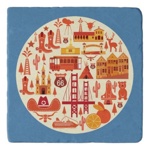 California Icons Trivet
