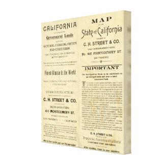 California Impresión En Tela