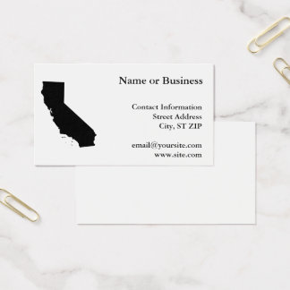California in Black and White Business Card