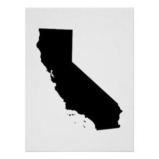 California in Black and White Poster