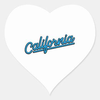 California in cyan heart sticker