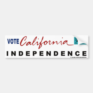 CALIFORNIA INDEPENDENCE BUMPER STICKER
