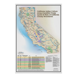 California Indian Culture Areas - Poster