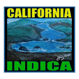 CALIFORNIA INDICA POSTER