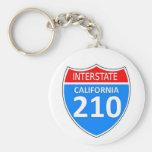 California Interstate 210 Key Chains