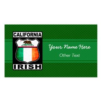 California Irish American Custom Business Cards