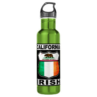 California Irish American Stainless Steel Water Bottle