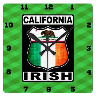 California Irish American Wall Clock