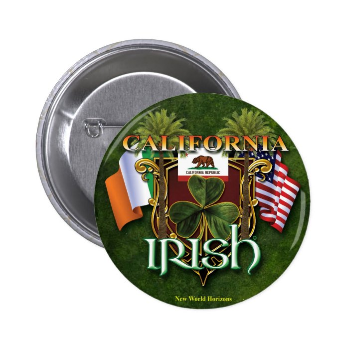 California Irish Pride Button