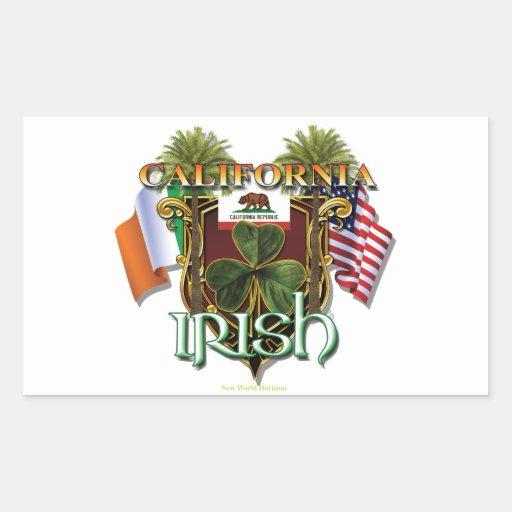 California Irish Pride Rectangular Sticker