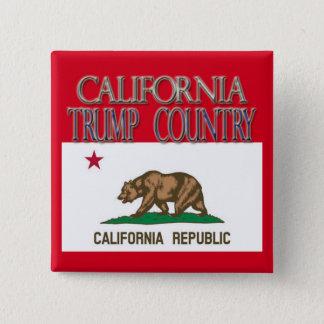 CALIFORNIA is TRUMP COUNTRY Campaign Button Square