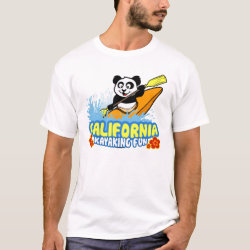 Men's Basic T-Shirt with California Kayaking Fun design