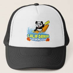 Trucker Hat with California Kayaking Fun design