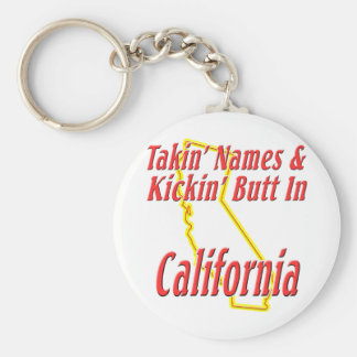 California - Kickin' Butt Keychain