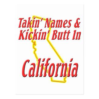 California - Kickin' Butt Postcard