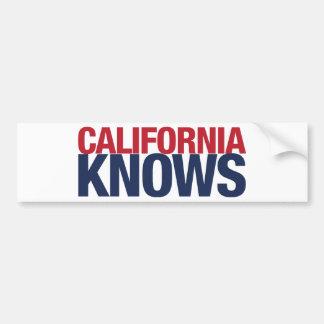 California Knows Bumper Sticker