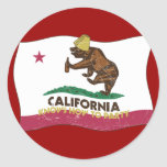 California Knows How to Party Bear Stickers
