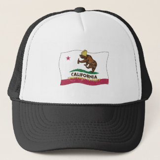 California Knows How to Party Bear Trucker Hat