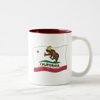 California Knows How to Party Bear Two-Tone Coffee Mug