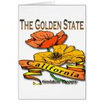 California la amapola de oro del Golden State Tarjetas