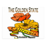 California la amapola de oro del Golden State Tarjetas Postales