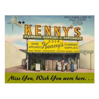 California, la fontanería de Kenny Tarjetas Postales