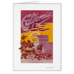 California Land of Promise Poster Greeting Card
