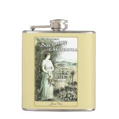 California Land Of Sunshine Discreet Ladies Flask at Zazzle
