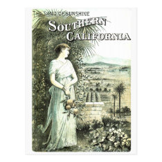 California Land Of Sunshine Vintage Postcard at Zazzle