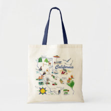 California large tote canvas bag