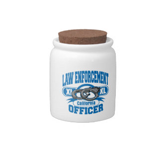 California Law Enforcement Officer Handcuffs Candy Dishes