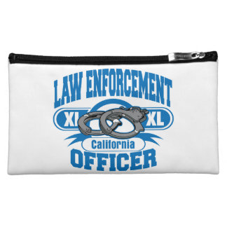 California Law Enforcement Officer Handcuffs Cosmetic Bag