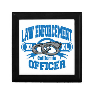 California Law Enforcement Officer Handcuffs Jewelry Box