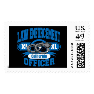 California Law Enforcement Officer Handcuffs Postage