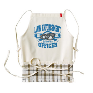 California Law Enforcement Officer Handcuffs Zazzle HEART Apron
